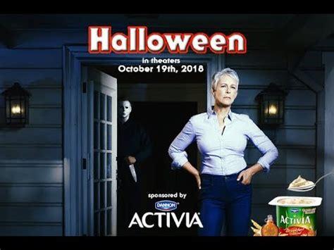 jamie lee curtis activia meme halloween 2018 activia promo youtube