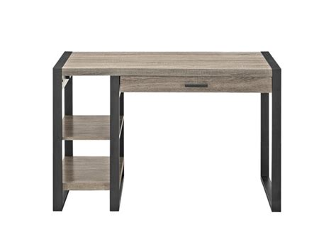 walker edison urban blend computer desk 48 quot urban blend computer desk 2 colors