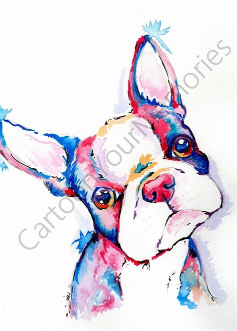 watercolor tattoos in boston 805 best bostons frenchies pugs oh my images on