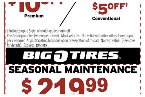 oil change coupon discount tire