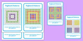 patterns in nature twinkl pegboard pattern cards activity activities games patterns