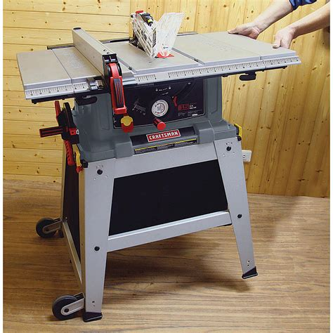 craftsman table saw review craftsman 21807 portable table saw review table saw central
