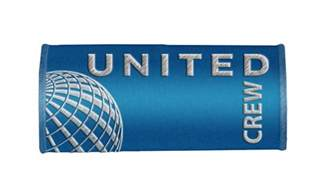 luggage united airlines united airlines crew handle wraps crew luggage tags blue