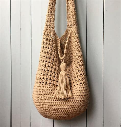 hippie tote bag pattern crochet tote bag pattern bucket bag crochet pattern boho