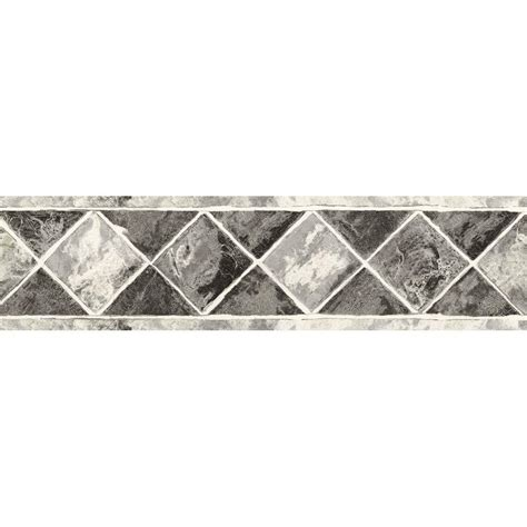bathroom wallpaper borders home depot the wallpaper company 6 75 in x 15 ft black and silver