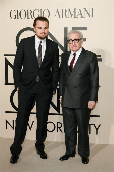 Martin Scorcese And Giorgio Armani Work Together by Leonardo Dicaprio At Armani Fashion Show With Martin