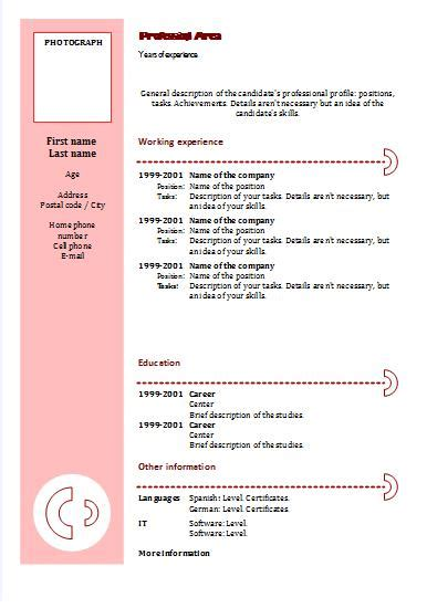 cv templates chronological 3 resume templates