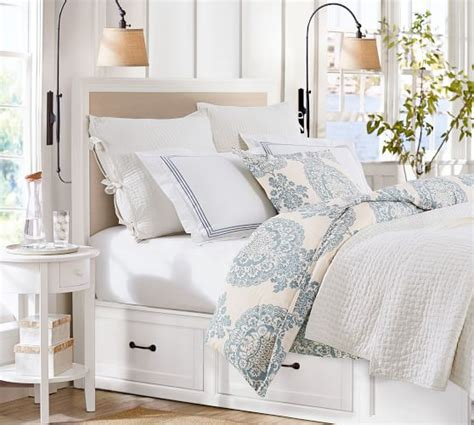 pottery barn stratton bed stratton storage platform bed with drawers pottery barn