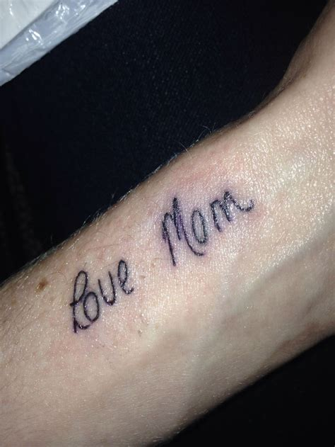 in handwriting for a tattoo mothers signature handwriting tattoo