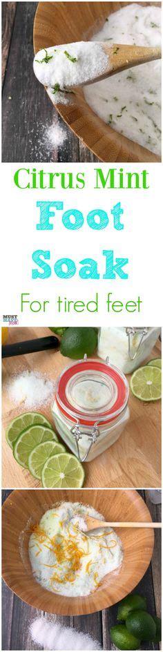 Salt Detox Foot Soak by 1000 Ideas About Foot Soak Recipe On Foot