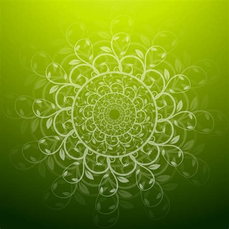 free green green floral background vector free