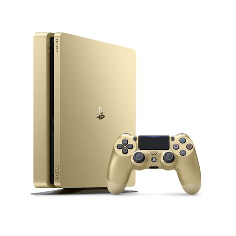 playstation 4 console sony playstation 4 slim 500gb console gold 1 year sony
