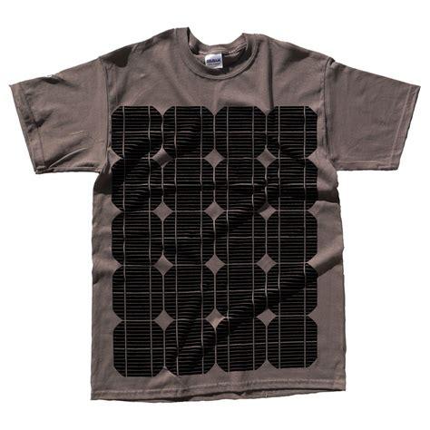 Panel Shirt solar power t shirt solar panel print alternative