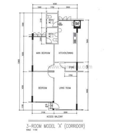 3 room flat floor plan 3 room hdb singapore real estate harry liu