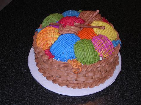knitting cake pin knitting basket birthday cake yarn cooking cakes cook