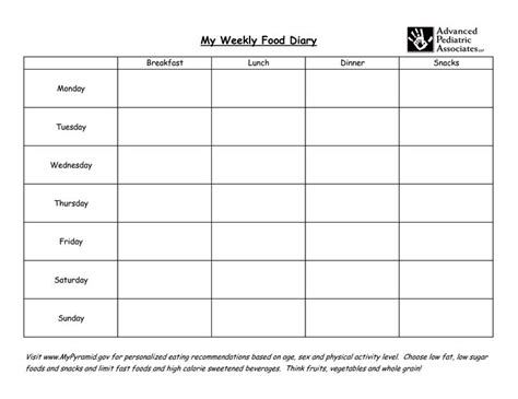 printable food diary for slimming world weekly food diary my weekly food diary eating charts