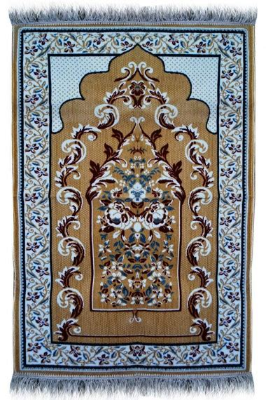 BEST Janamaz : Plush Velvet Muslim Prayer Rug From Turkey
