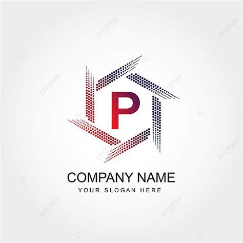 letter p logo template design template
