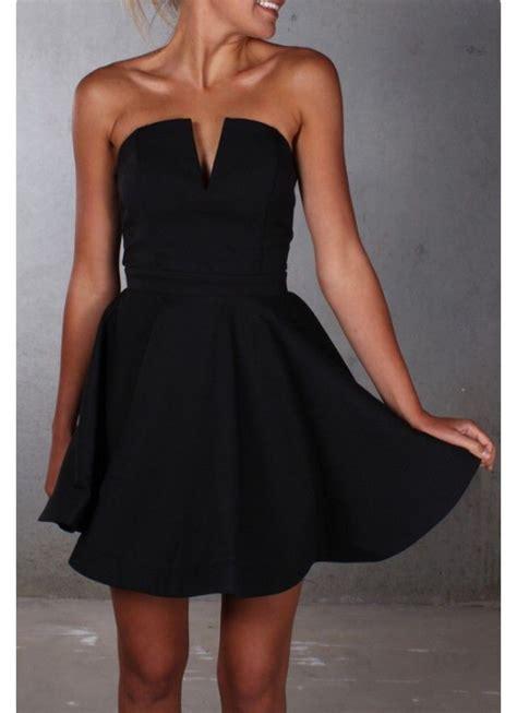 Black V Sexydress dress black dress vneck dress strapless fancy black