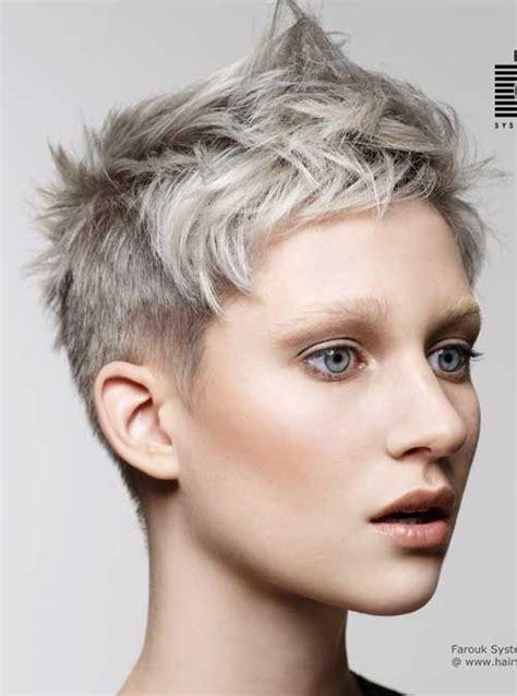 photos of very short grey hairstyles with mahogany highlights ladies s most preferred super short haircuts short