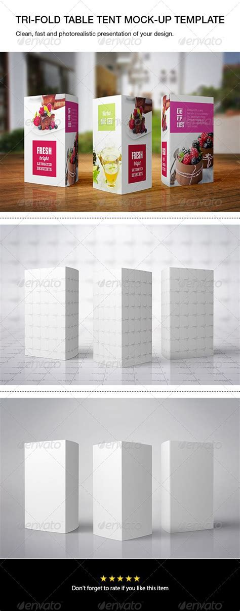 tri fold table tent tri fold table tent mock up print product mock ups