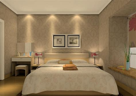 Rooms Design by Sleeping Room Design Rendering With Wallpaper 3d House