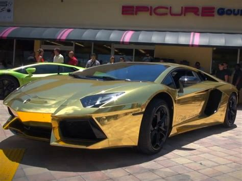 cool golden cars top cool cars gold plated lamborghini aventador lp700 4