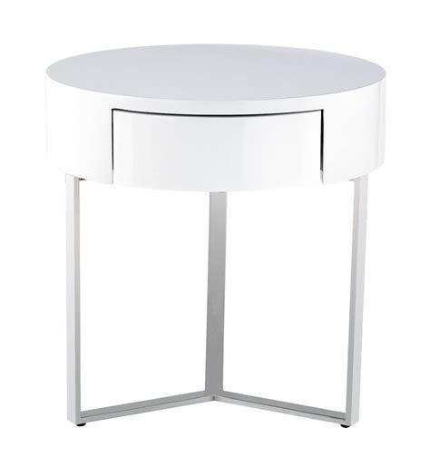 Circular Nightstand 8c008b temptation white 1 drawer nightstand
