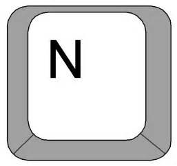 clipart computer keyboard letter n key