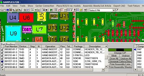 pcb layout software gerber pick and place pcb assembly machine software for