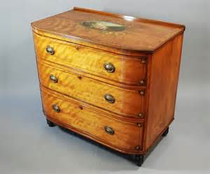 Bow Chest Of Drawers by 19thc Satinbirch Bow Fronted Chest Of Drawers Antiques Atlas