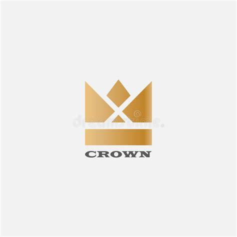 vector crown logo design abstract logo template vector geometric vintage crown abstract logo design vector