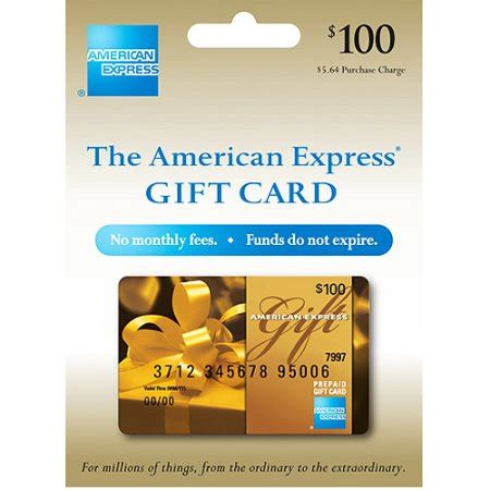 American Express Prepaid Gift Card - 100 american express gift card purchase fee included walmart com
