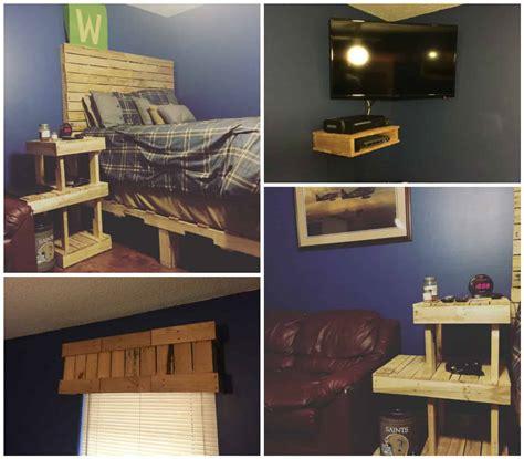 Pallet Bedroom Set by Pallet Bedroom Set 1001 Pallets