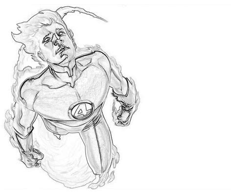 human torch coloring pages