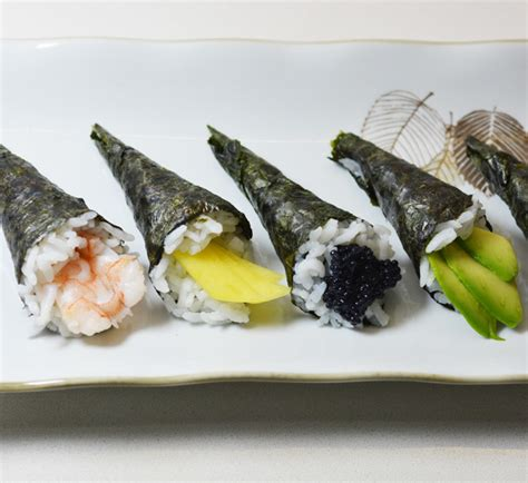 Cetakan Sushi Roll Cone mini temaki rolls canap 233 style recipe japan centre