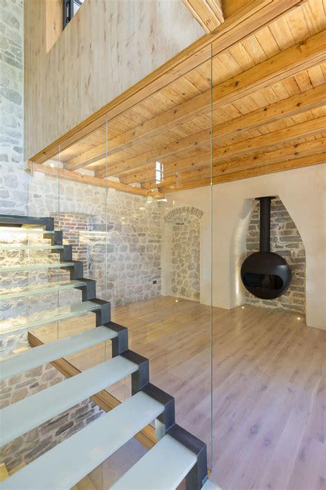 modern renovation    century  stone house