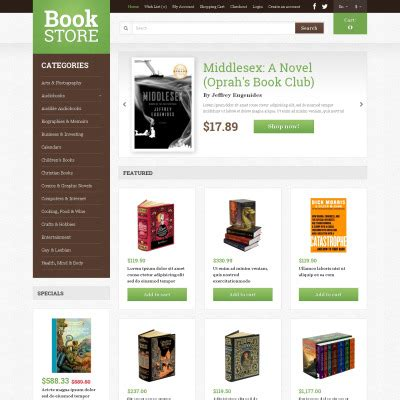 bootstrap templates for books opencart books templates