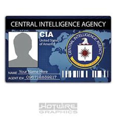 cia id card template maker cia id cards ebay