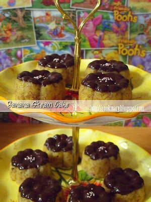 Cetakan Banana Steam Cake banana steam cake cookmary