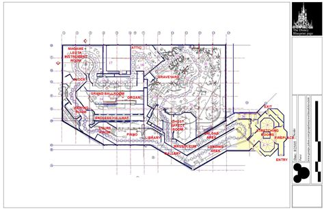 blueprint of a mansion walt disney world haunted mansion blueprints with detailed ride track map disney every day