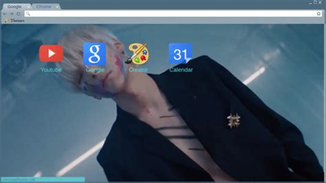 theme chrome monsta x minhyuk all in chrome theme themebeta