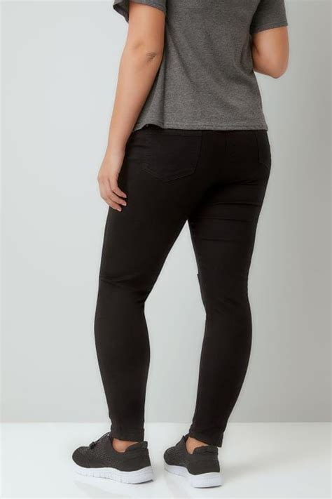 Ripped Knee Jsk 9105 Size 27 30 black stretch with ripped knees