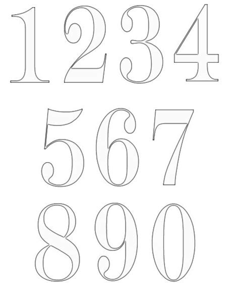 free numbers templates