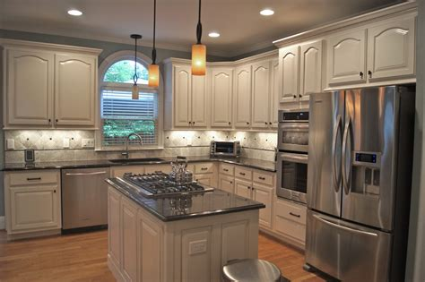 faux kitchen cabinets faux painting cabinets with brown wall double ceiling fan