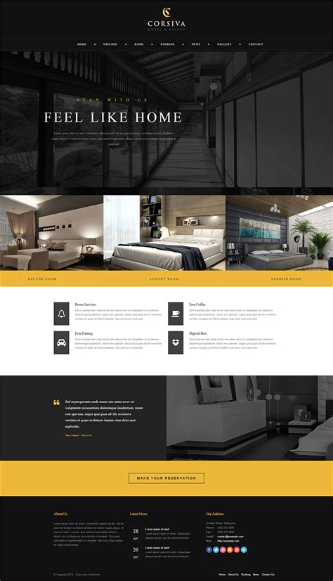 hotel php themes templates free premium templates