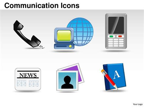 powerpoint templates for communication presentation communication icons powerpoint presentation templates