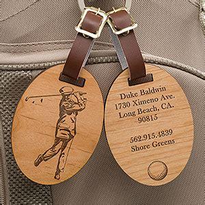 personalized golf bag tags vintage golfer