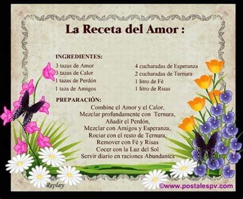 imagenes de recetas espirituales reflexiones y poemas la receta del amor
