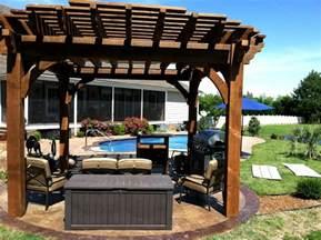 Backyard Arbors Designs Round Ruby Pergola Post Western Timber Frame